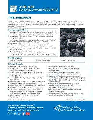 Job Aid - Tire Shredder