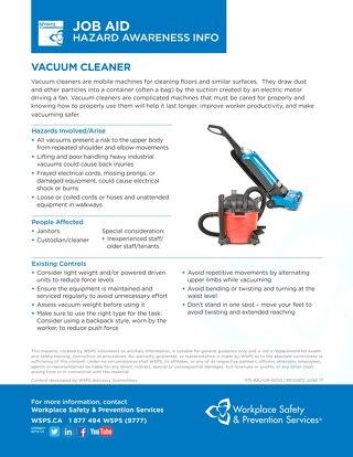 Job Aid - Vacuum Cleaner