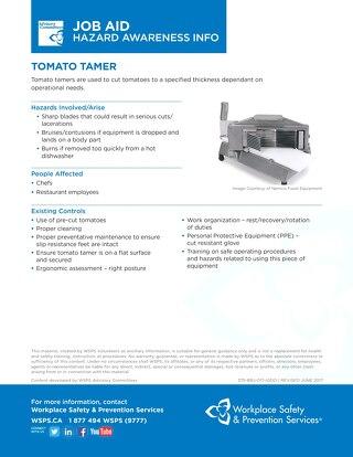Job Aid - Tomato Tamer