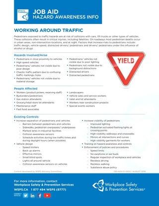 Job Aid - Working Around Traffic