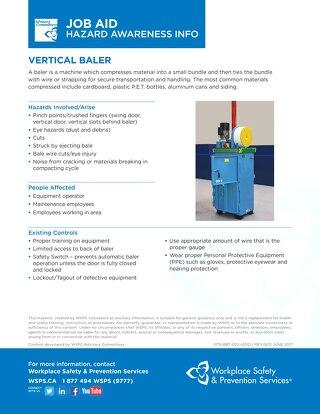 Job Aid - Vertical Baler
