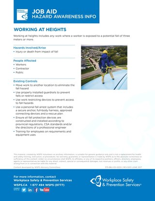 Job Aid - Working at Heights