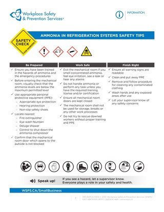 Safety Check: Ammonia in Refrigeration Systems