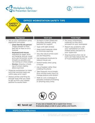 Safety Check: Office Workstation Safety