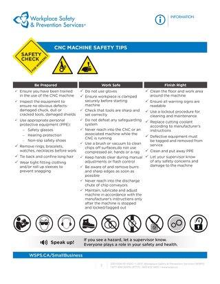 Safety Check: CNC Machine Safety