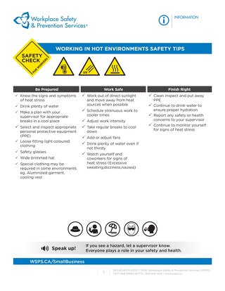 Safety Check: Working in Hot Environments