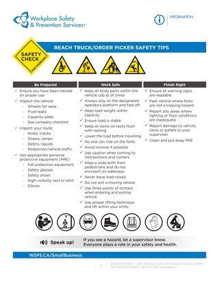 Safety Check: Reach Truck / Order Picker Safety