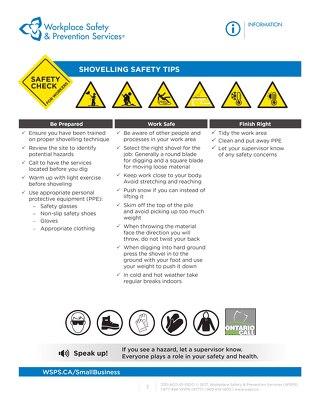 Safety Check: Shovelling