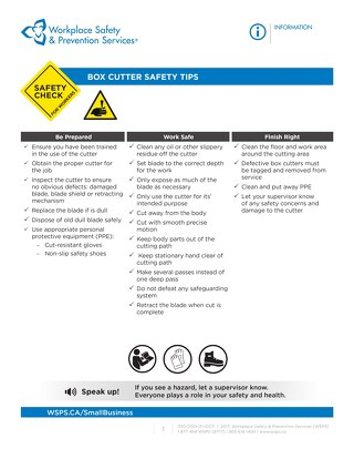 Safety Check: Box Cutter Safety