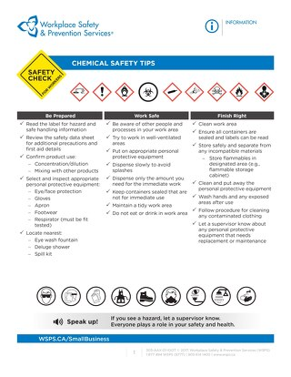 Safety Check: Chemical Safety