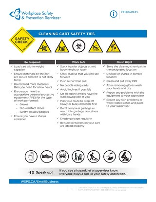Safety Check: Cleaning Cart Safety