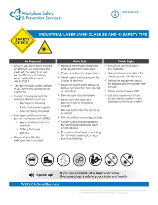 Safety Check: Industrial Laser Safety