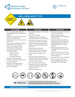 Safety Check: Drill Press Safety