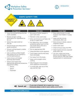 Safety Check: Knife Safety