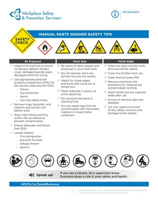 Safety Check: Manual Parts Washer Safety