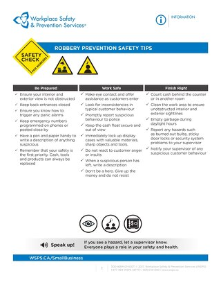 Safety Check: Robbery Prevention Safety