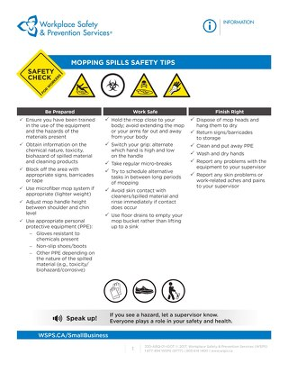 Safety Check: Mopping Spills Safety