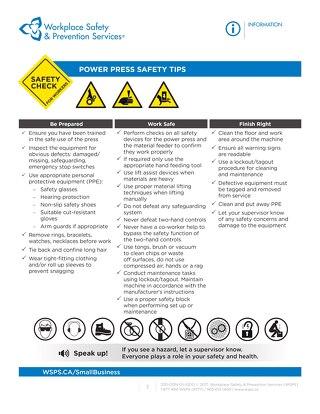 Safety Check: Power Press Safety