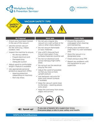 Safety Check: Vacuum Safety