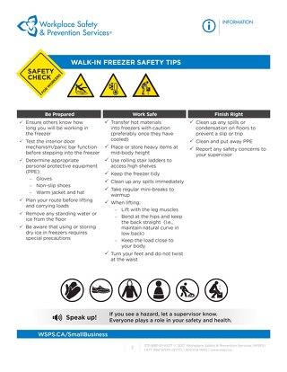 Safety Check: Walk-in freezer Safety