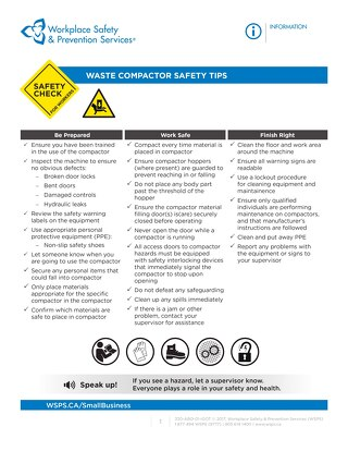 Safety Check: Waste Compactor Safety