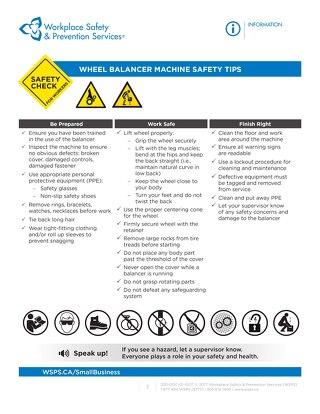 Safety Check: Wheel Balancer Safety