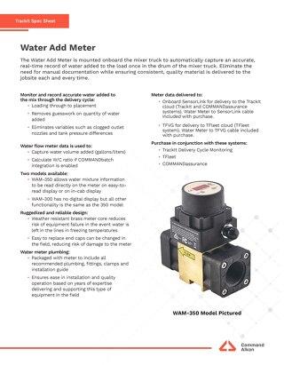 TrackIt Water Add Meter Spec Sheet