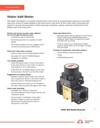 TrackIt Water Add Meter