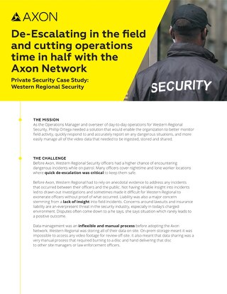 Private Security Case Study: Western Regional Security