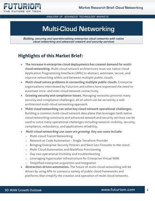 Multi-Cloud Networking by Futuriom July2020