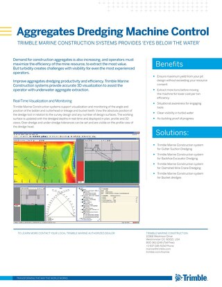 Aggregates Dredging and Payload Management - Application Sheet