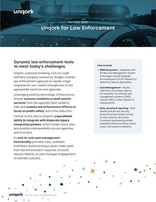 Unqork for Law Enforcement