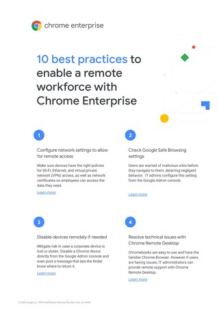 10 Best Practices to Enable a Remote Workforce with Chrome Enterprise