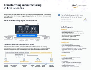 Transforming manufacturing in Life Sciences One Pager