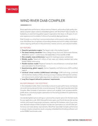 Wind River Diab Compiler Product Overview