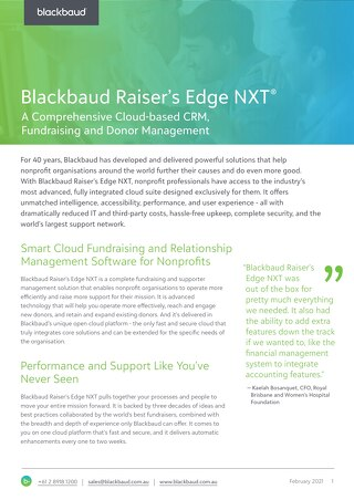 A Smart Cloud Fundraising and Relationship Management Software