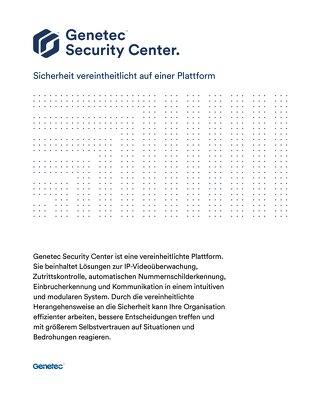 Broschüre Genetec Security Center
