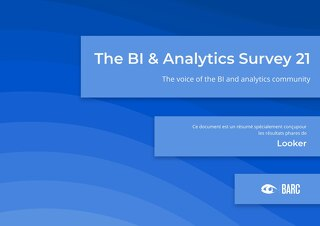 BARC: The BI & Analytics Survey 21 (Française)