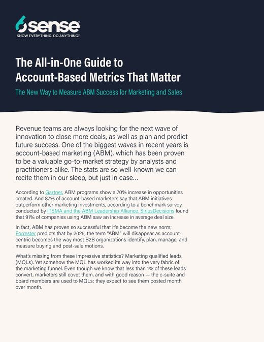 The All-in-One Guide to Account-Based Metrics That Matter