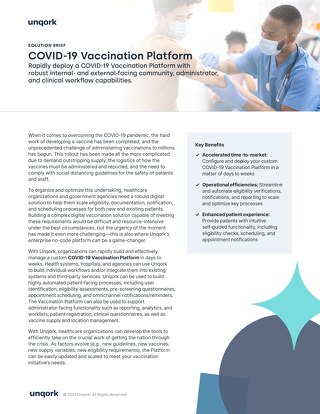 Solution Brief: COVID-19 Vaccination Platform