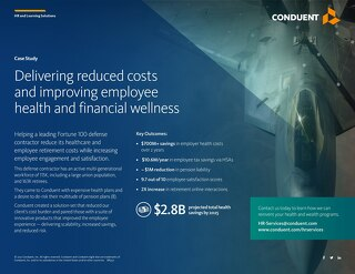 Delivering reduced costs and improving employee health and financial wellness