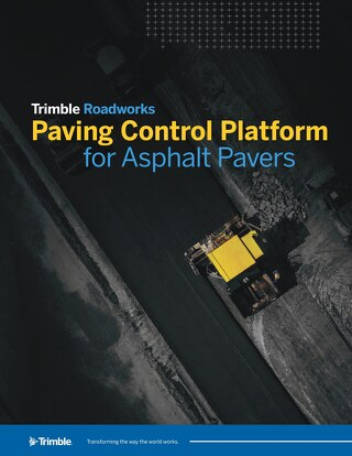 Trimble Roadworks Paving Control Platform for Asphalt Pavers Datasheet - English