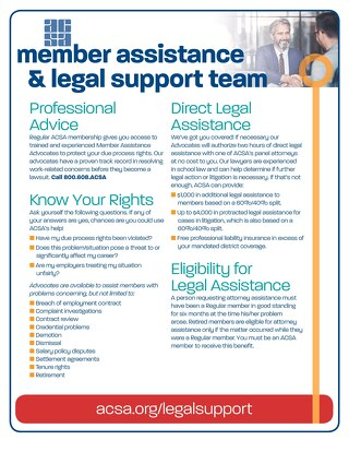 ACSA Legal Support Flyer