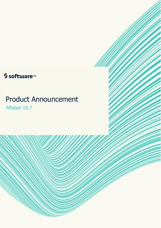 Alfabet 10.7 Product Announcement