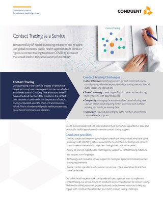 Contact Tracing as a Service