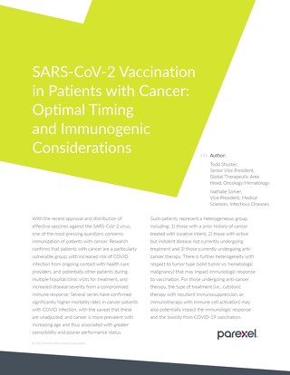 Whitepaper: COVID Vaccination in Cancer Patients