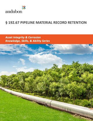192.67 Pipeline Material Record Retention