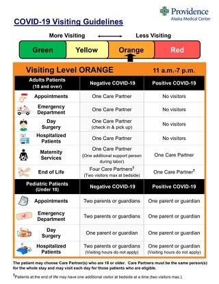 Visitation Guidelines Level Orange
