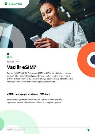 eSIM - Produktblad - SV