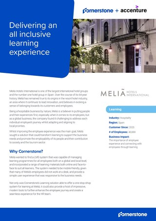 Case Study Melia Hotels EN